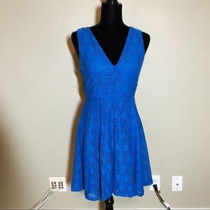 NWOT royal blue mesh midi dress